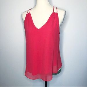 RBL Rory Beca Pink Coral Strappy Tank Top XS